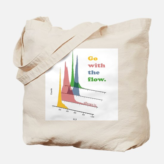 Go with the flow-cytometry Tote Bag