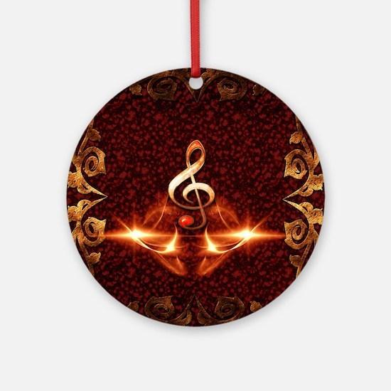 Decorative clef Ornament (Round)