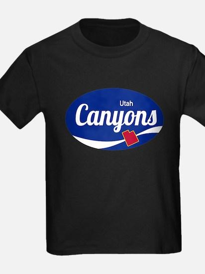 The Canyons Ski Resort Utah Oval T-Shirt