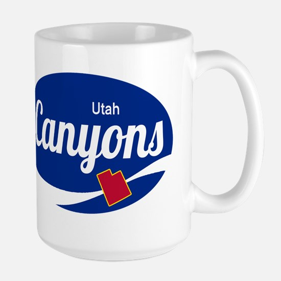 The Canyons Ski Resort Utah Oval Mugs