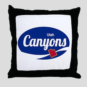 The Canyons Ski Resort Utah Oval Throw Pillow