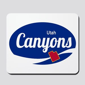 The Canyons Ski Resort Utah Oval Mousepad