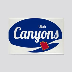 The Canyons Ski Resort Utah Oval Magnets