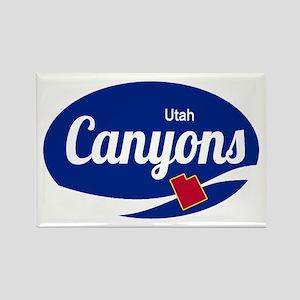 The Canyons Ski Resort Utah Oval Magnets