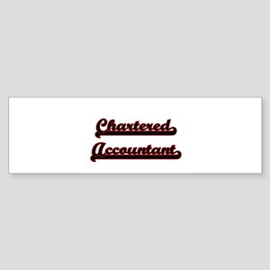 Chartered Accountant Classic Job De Bumper Sticker