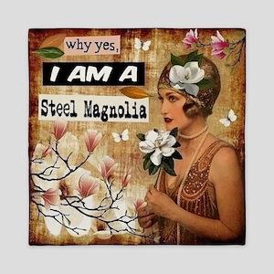 Steel Magnolia Queen Duvet