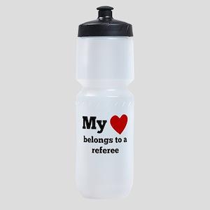 My Heart Belongs To A Referee Sports Bottle