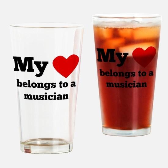 My Heart Belongs To A Musician Drinking Glass