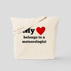 My Heart Belongs To A Meteorologist Tote Bag
