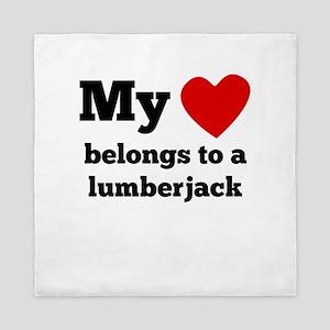 My Heart Belongs To A Lumberjack Queen Duvet