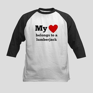 My Heart Belongs To A Lumberjack Baseball Jersey
