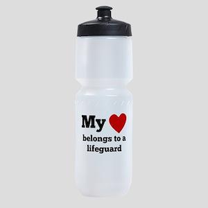 My Heart Belongs To A Lifeguard Sports Bottle