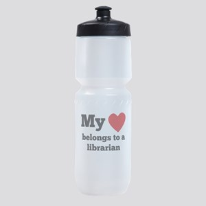 My Heart Belongs To A Librarian Sports Bottle