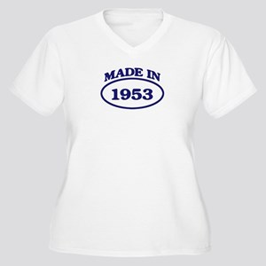 Made in 1953 Women's Plus Size V-Neck T-Shirt