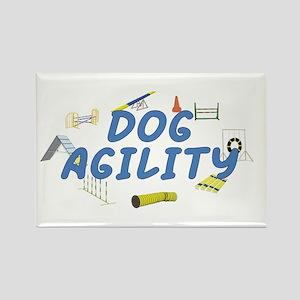 Dog Agility Rectangle Magnet