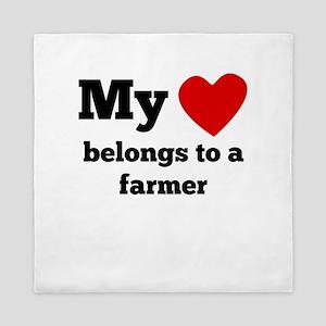 My Heart Belongs To A Farmer Queen Duvet