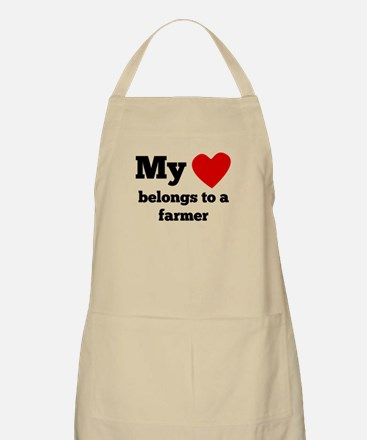 My Heart Belongs To A Farmer Apron