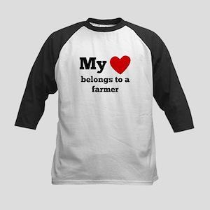 My Heart Belongs To A Farmer Baseball Jersey