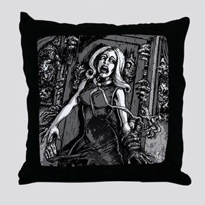 House of Zombies Throw Pillow
