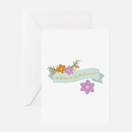 Bridesmaid Greeting Cards