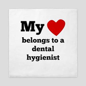 My Heart Belongs To A Dental Hygienist Queen Duvet