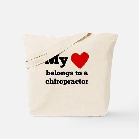 My Heart Belongs To A Chiropractor Tote Bag
