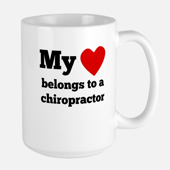 My Heart Belongs To A Chiropractor Mugs