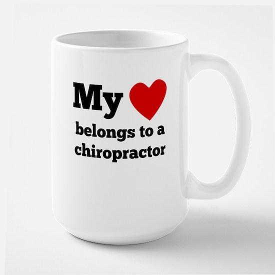 My Heart Belongs To A Chiropractor Mugs
