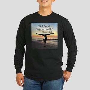 BLESSED GYMNAST Long Sleeve Dark T-Shirt