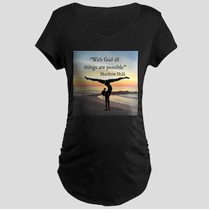 BLESSED GYMNAST Maternity Dark T-Shirt