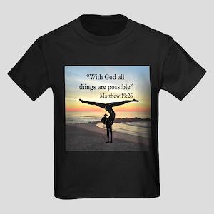 BLESSED GYMNAST Kids Dark T-Shirt