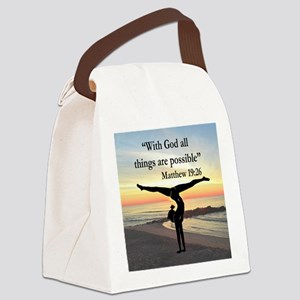 BLESSED GYMNAST Canvas Lunch Bag