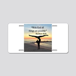 BLESSED GYMNAST Aluminum License Plate