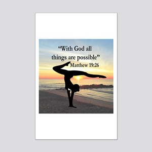 BLESSED GYMNAST Mini Poster Print