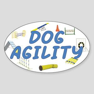 Dog Agility Oval Sticker
