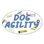 Dog Agility Oval Sticker
