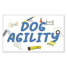 Dog Agility Rectangle Sticker