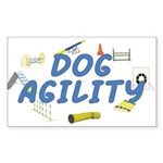 Dog Agility Rectangle Sticker