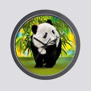 Panda Bear Cub Wall Clock