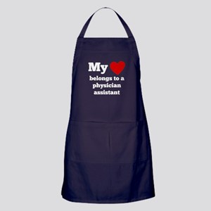 My Heart Belongs To A Physician Assistant Apron (d