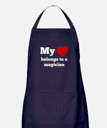 My Heart Belongs To A Magician Apron (dark)