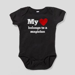My Heart Belongs To A Magician Baby Bodysuit