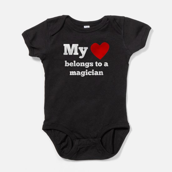 My Heart Belongs To A Magician Baby Bodysuit