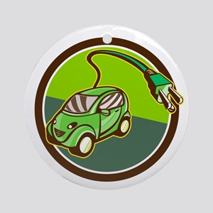 Plug-in Hybrid Electric Vehicle Circle Retro Ornam