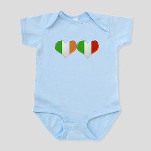 Irish and Italian Heart Flags Body Suit