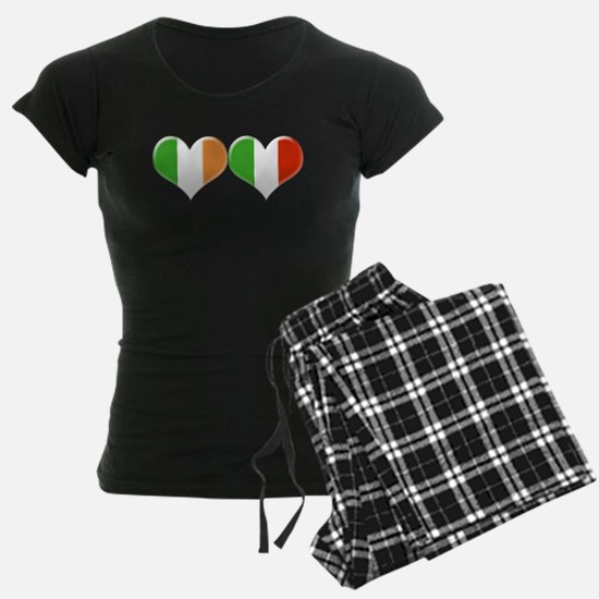 Irish and Italian Heart Flag Pajamas