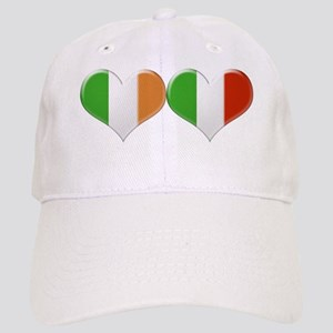 Irish and Italian Heart Flags Cap
