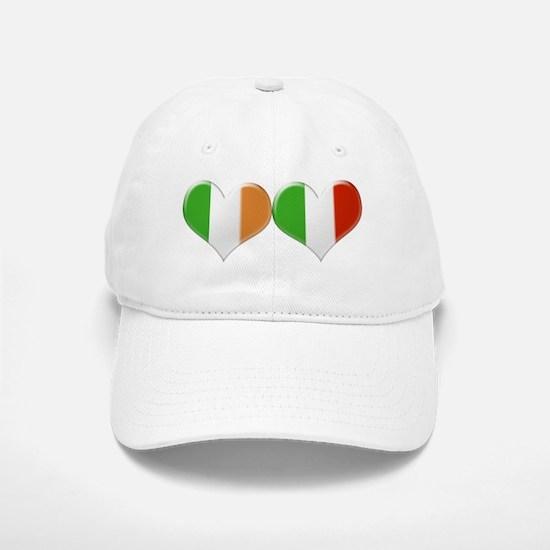 Irish and Italian Heart Flags Baseball Baseball Cap