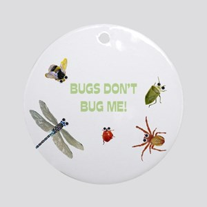 Cute bugs Ornament (Round)