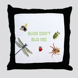 Cute bugs Throw Pillow